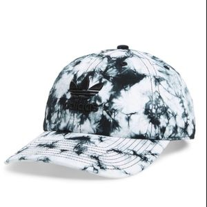 NWT Adidas Black and White Tie Dye WomenHat